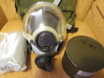MSA Millennium Gray Full Face 40mm military Gas Mask Size med w/hood/filter