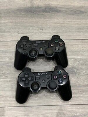 2 X Original Sony PS3 Playstation Dual Shock Wireless Controllers *Faulty*