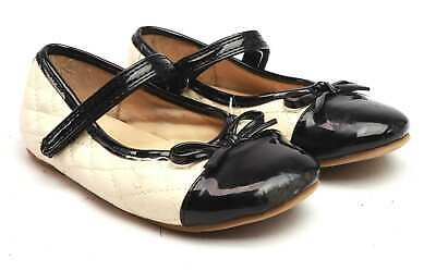 Young Dimension Girls UK Size 10 Cream Bow Leather Dolly Shoes