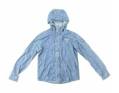 Bench Girls Blue Plain Hoodie Age 13-14