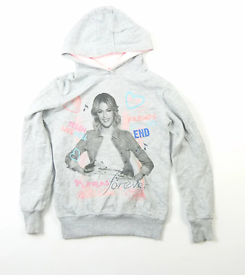 Primark Girls Grey Graphic Hoodie Age 10-11