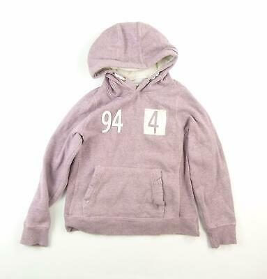Candy Couture Girls Pink Plain Hoodie Age 12-13