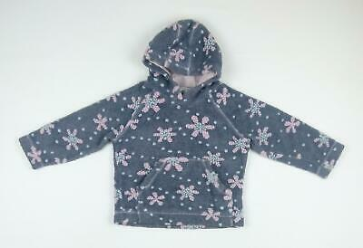 Next Girls Grey Floral Hoodie Age 4