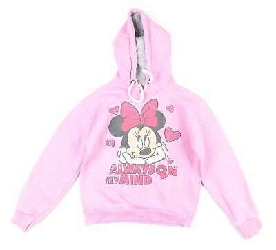 Mickey Mouse Girls Pink Graphic Hoodie Age 8-9
