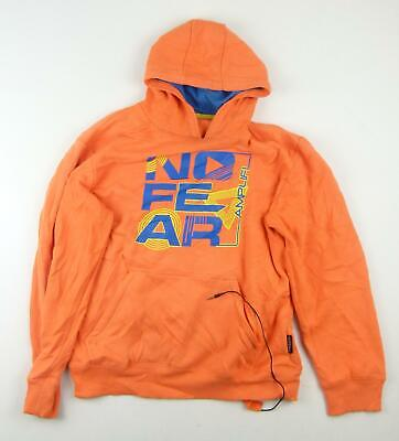 No Fear Girls Orange Graphic Hoodie Age 13