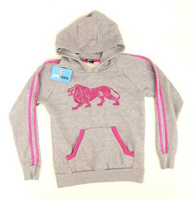 Lonsdale Girls Graphic Grey Hoodie Age 13