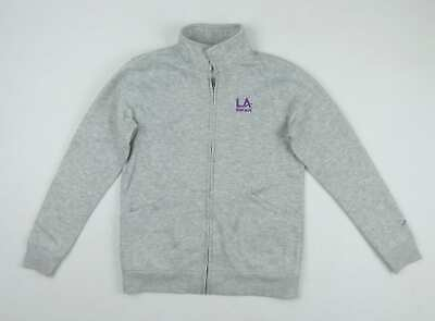 LA Gear Girls Grey Textured Tracksuit Top Age 13