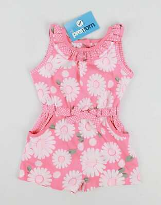 Matalan Baby Girls Pink Floral Pretty Playsuit Age 9-12m