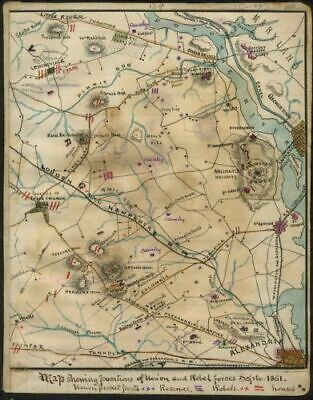 Map: showing positions of Union and Rebel forces Septr 1861. Publication Date: 1