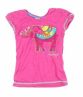 Debenhams Girls Pink Graphic T-Shirt Age 9-10