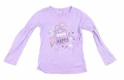 Gap Girls Purple Graphic Basic Tee Age 10-11