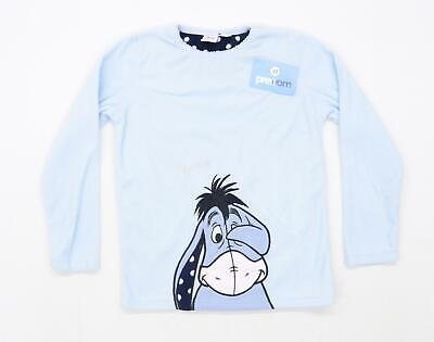 Primark Girls Graphic Blue Eeyore Top Age 10-11
