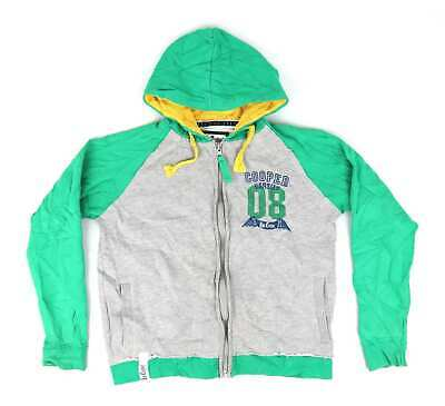 Lee Cooper Boys Green Graphic Hoodie Age 13