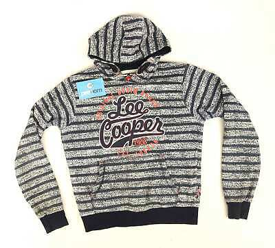 Lee Cooper Boys Striped Blue Hoodie Age 11-12