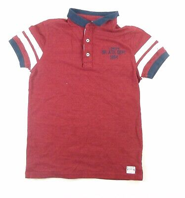 Marks & Spencer Boys Red Polo Shirt Age 11-12