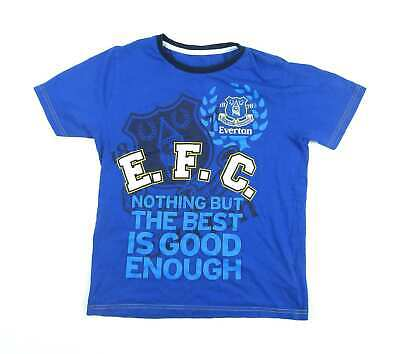 Marks & Spencer Boys Blue Graphic T-Shirt Age 11-12