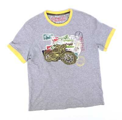 Marks & Spencer Boys Grey Graphic T-Shirt Age 9-10