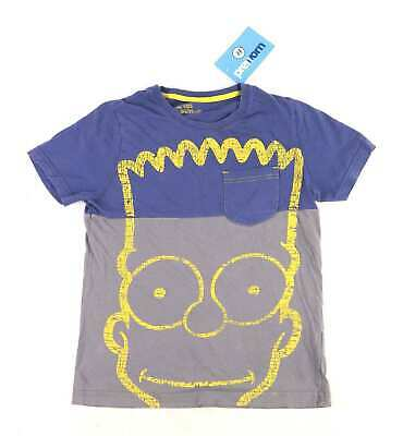 Marks & Spencer Boys Graphic Grey The Simpsons Bart Blue Yellow Casual Spring Su