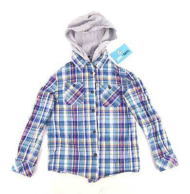 John Lewis Boys Check Multi-Coloured Casual Removable Hood Spring Summer Shirt A