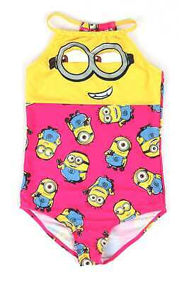Despicable Me Girls Pink Graphic Minions Swimsuit Age 11-12
