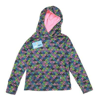 Xersion Girls Geometric Multi-Coloured Lightweight Zipped Hoodie Age 10-12