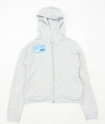 Matalan Girls Grey Midweight Zipped Hoodie Age 13
