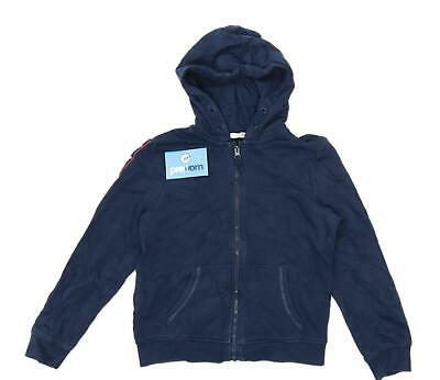 Marks & Spencer Boys Geometric Blue Lightweight Zipped Hoodie Age 9-10