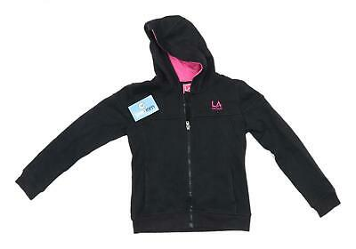 LA Gear Girls Black Lightweight Hoodie Age 7-8