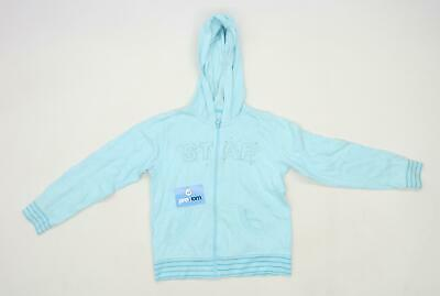 Matalan Girls Textured Blue Lightweight Hoodie Age 12-13