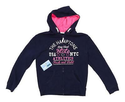 Young Dimensions Girls Graphic Blue Midweight Hoodie Age 11-12
