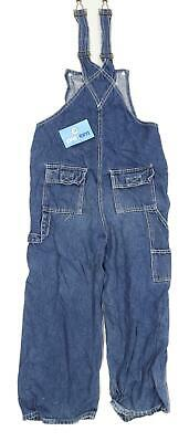 Tesco Girls Blue Dungarees Jeans Age 8-9