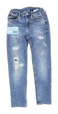 & Denim Boys Blue Ripped Faded Jeans Age EUR 134