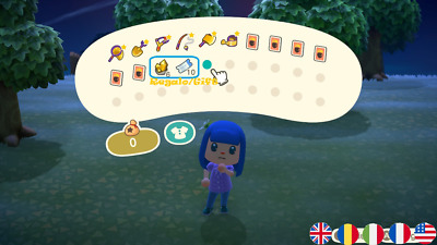 Animal Crossing:New Horizons Utensili d'Oro/Golden Tool+Ricette/Recipe+REGALO