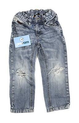 Ben Sherman Boys Blue Ripped Faded Jeans Age 3-4