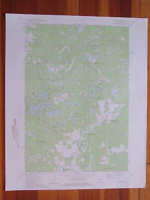 Parrish Wisconsin 1976 Original Vintage USGS Topo Map