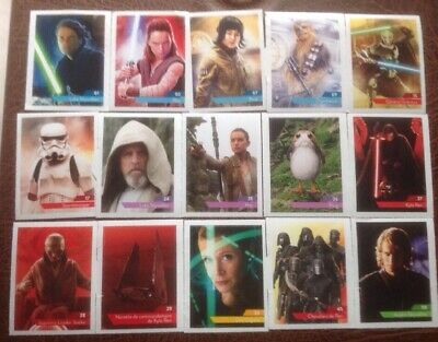Lot Cartes vignettes Star Wars Leclerc 2019