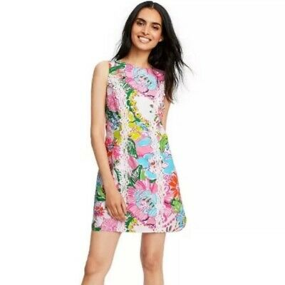 NWOT Lilly Pulitzer Target Nosey Posey Floral Shift Dress Size 2