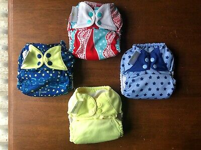 Bumgenius Freetime All in One Cloth Diaper One Size Lot Of 4