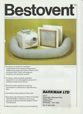 AIR EXTRACTOR FOR CLEAN ROOM AREAS negative or postive pressure