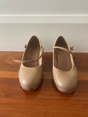 Girls Bloch Tap Shoes Size 7 Leather Beige