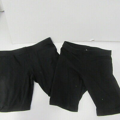 2 Pairs Girls Black Sports Shorts Stretch  Age 9 - 10 Years Cotton Stretch Short