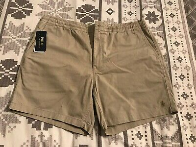 Mens Polo Ralph Lauren Classic Stretch Fit Chino Shorts Tan XL BNWT Smart Casual
