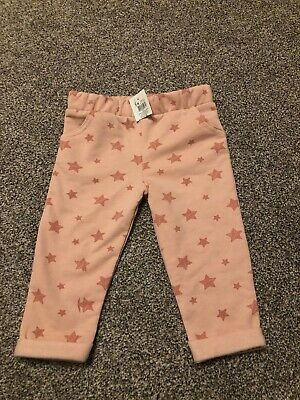 Baby Girls Pink Star Jogging Bottoms M&Co BNWT 3-6 Months