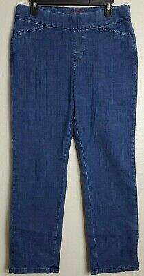 Chic Classic Collection Womens Easy Fit Elastic Waist Pull On Pant Mid Shade 10P