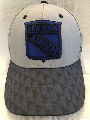 New York Rangers Reebok NHL Two Tone Structured Flex Stretch Fit Fitted Hat L/XL