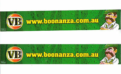 VB WWW  Boonanza. Com  Au Boonie Two (2) Stickers As New Totally unused