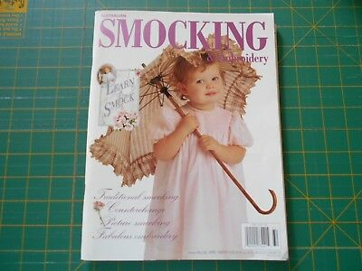 Australian Smocking & Embroidery Magazine - Issue No. 32 - 1995 Good Condition -