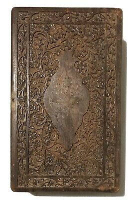 Antique Hand Carved Teak? Mahogany? Camphor? Wood Box India? SE ASIA Carving
