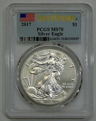 2017 - Silver American Eagle - PCGS MS 70 First Strike