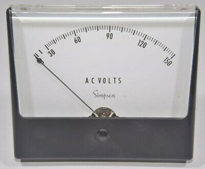 Simpson Panel Meter, Model 1359, 0-150 A.C. Volts, New Old Stock